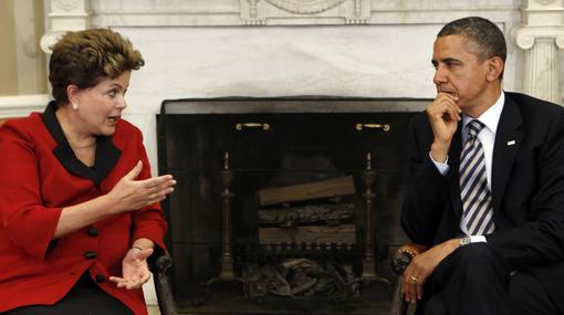 Rousseff criticó ante Obama la política monetaria de Estados Unidos