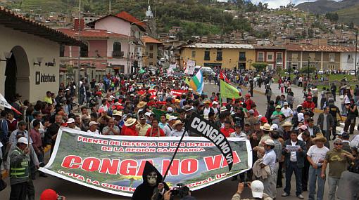 Opositores a Conga convocaron a manifestación y planean más para próxima semana