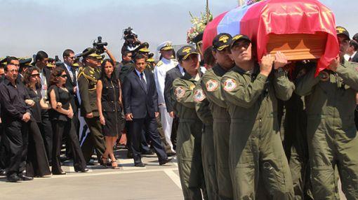 Presidente Humala recibió féretro de capitán PNP abatida en el VRAE