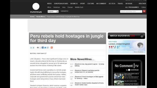 Medios del mundo destacaron la liberación de los rehenes en el VRAE
