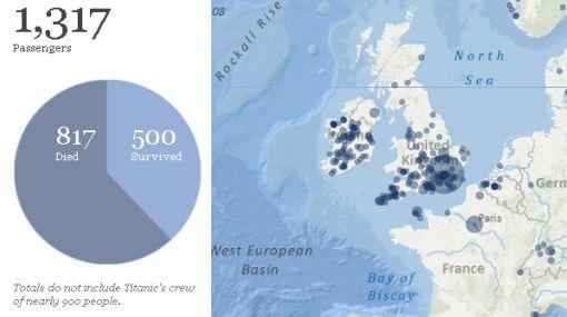 Mapa interactivo recrea la magnitud de la tragedia del Titanic