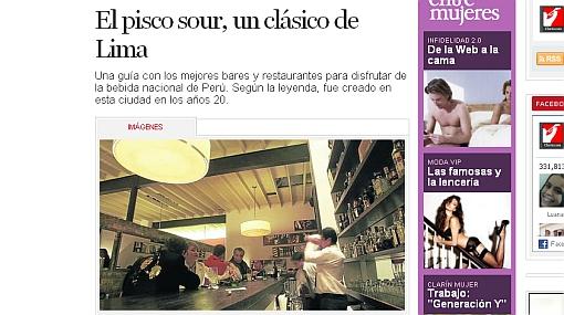 """Ruta del pisco sour es destacada en diario """"El Clarín"""" de Argentina"""
