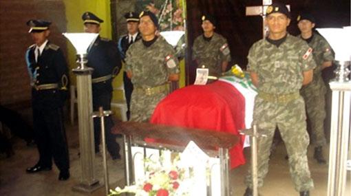 Huánuco: llegan restos de militar fallecido en liberación de rehenes