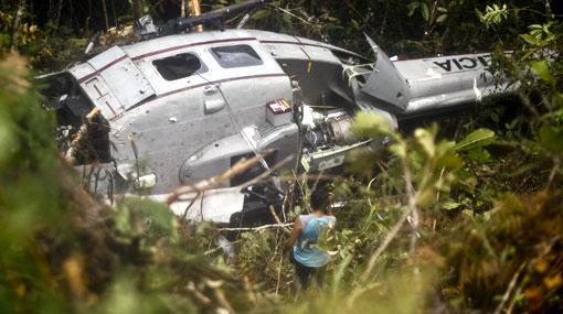 FOTOS: encuentran helicóptero donde fue abatida capitana Nancy Flores