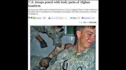 Pentágono condena fotos de soldados con cadáver mutilado de talibán