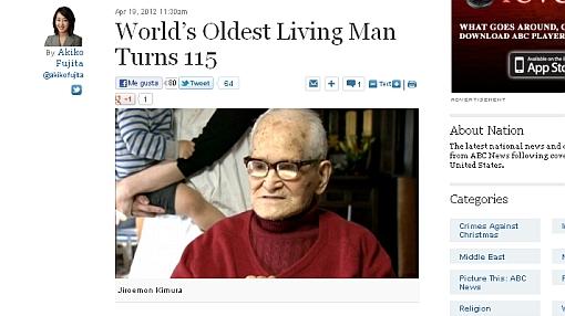 El hombre más anciano del mundo cumplió 115 años