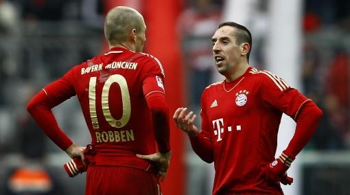 Frack Ribéry pagó 50 mil euros de multa por pegarle a Arjen Robben