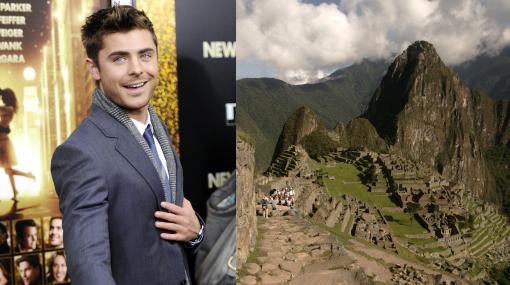 Zac Efron planea llegar como 'mochilero' a Machu Picchu