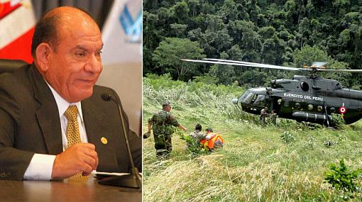 Ministro Lozada pidió a padres de policías desaparecidos no internarse en el VRAE