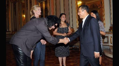 Gene Simmons visitó al presidente Ollanta Humala en Palacio de Gobierno