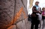 Nuevo atentado cultural en Cusco: muro inca fue dañado con aerosol - Noticias de alfredo mormontoy