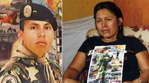 """Madre de policía Vilca: """"Me pregunto por qué no lo pueden encontrar"""""""