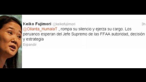 """Keiko a Humala: """"Ministros entran y salen pero el presidente debe llevar riendas del país"""""""