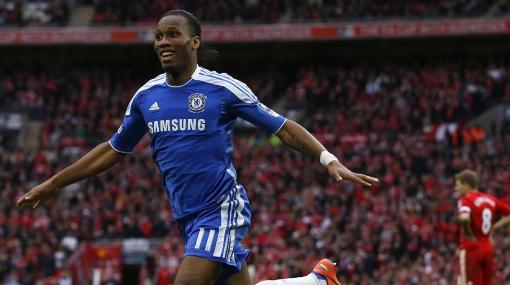 Drogba anotó en las cuatro finales de Copa FA que jugó con Chelsea