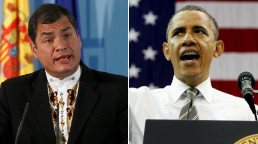 """Correa afirmó que es una """"vergüenza"""" que Obama respalde a periodistas """"informantes"""""""