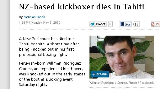 Boxeador peruano muere en su debut tras 32 segundos en el ring