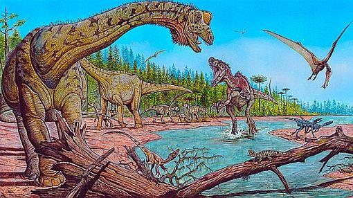 Gases de los dinosaurios pudieron calentar el planeta