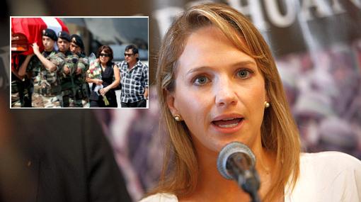 Luciana León pidió reparación por muertos en Operación Libertad