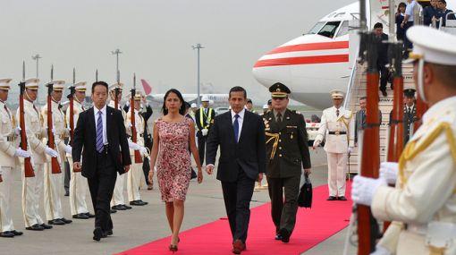 Ollanta Humala y su comitiva arribaron a Tokio