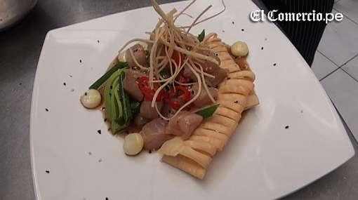 Aprende a preparar un cebiche nikkei y unos calamares fritos