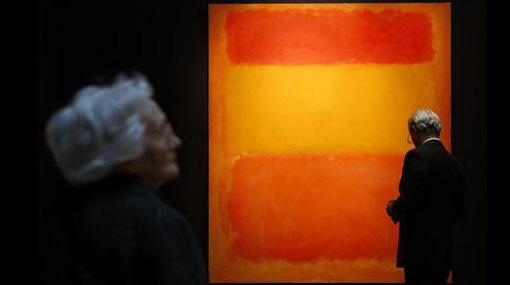 """""""Naranja, rojo y amarillo"""": ¿Cuánto crees que vale esta pintura?"""
