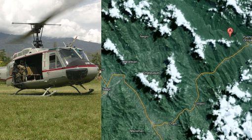 Helicóptero de la Policía cayó en Satipo con al menos 20 agentes