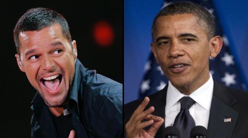 Ricky Martin agradeció a Obama apoyo a bodas entre homosexuales