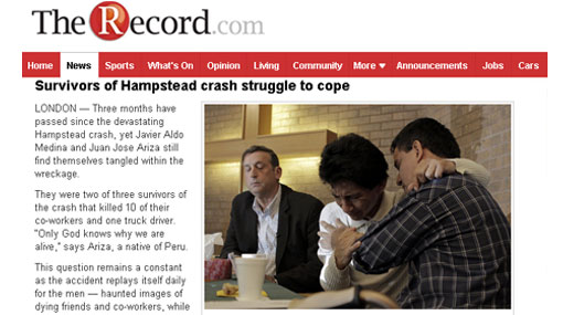 Canadá: peruanos que sobrevivieron a accidente piden residencia