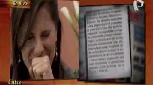 Claudia Cisneros rompió en llanto al recordar a su madre