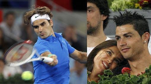Cristiano Ronaldo e Irina Shayk aplaudieron a Federer en Madrid