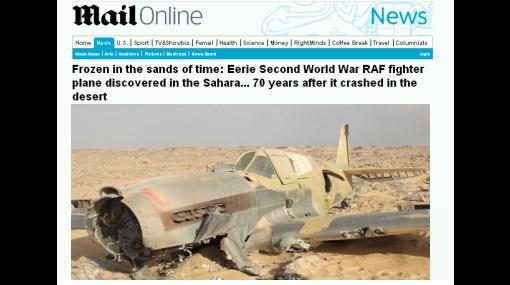 Avión de la Segunda Guerra Mundial fue hallado en el Sahara