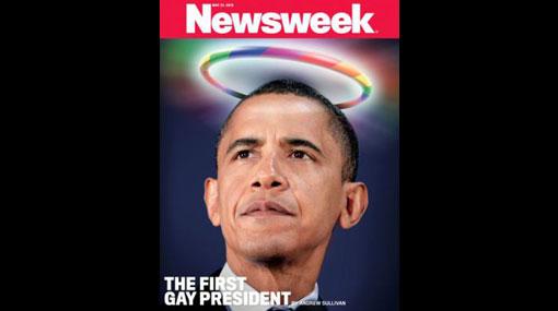 """Newsweek"" calificó a Barack Obama de ""primer presidente gay"""