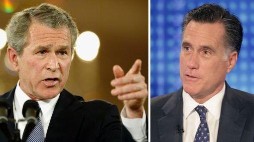 George Bush respaldó al favorito republicano Mitt Romney