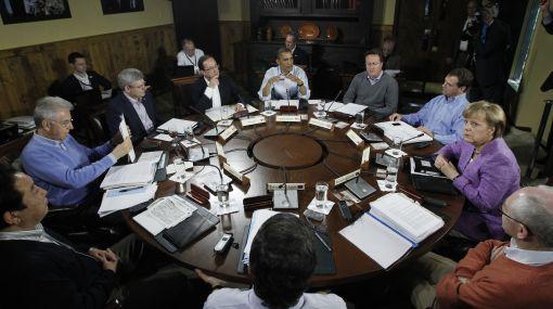 Líderes del G8 se concentran en la crisis europea