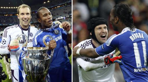Drogba y Cech, los pilares del Chelsea campeón de la Champions