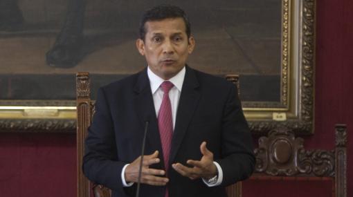 Aprobación de Ollanta Humala disminuyó 5% en mayo