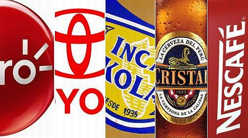 Claro, Toyota, Inca Kola y las otras marcas con las que se identifica más el peruano