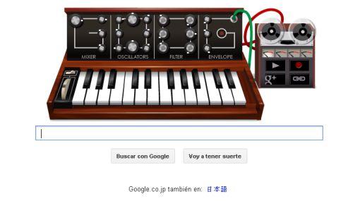 Google convirtió su logo en un sintetizador en homenaje a Robert Moog
