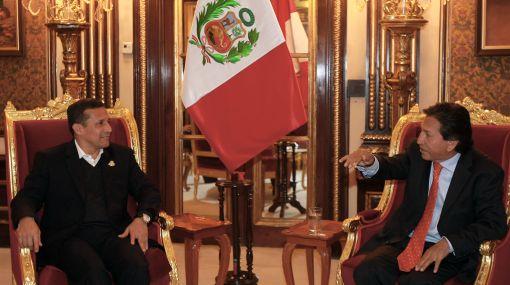 Presidente Humala se reúne con Alejandro Toledo en Palacio de Gobierno