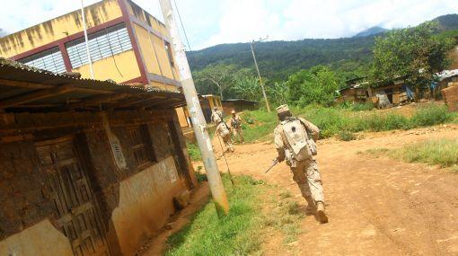 Ataque subversivo en Kepashiato dejó heridos a un militar y una menor