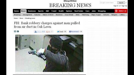 EE.UU.: ladrón quedó atorado en ducto de aire al escapar de banco