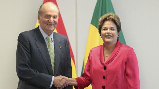 Dilma Rousseff recibió a un recuperado Rey de España