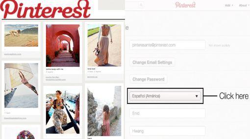 Pinterest lanzó su versión en español para aumentar su número de usuarios