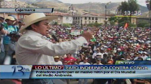 """Gregorio Santos instó a """"sacar"""" al presidente Ollanta Humala"""