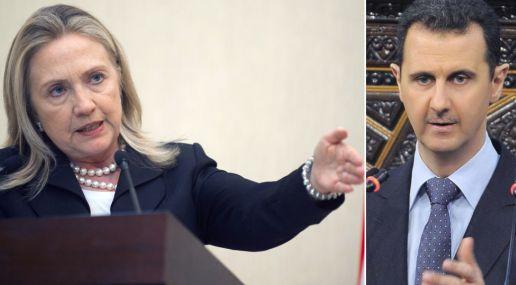 Hillary Clinton exige a Al Assad que renuncie y se vaya de Siria