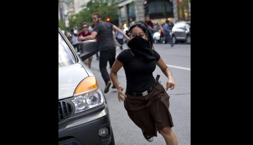 FOTOS: Estudiantes desnudos protestaron contra el Gran Premio de Canadá y el alza de las matrículas