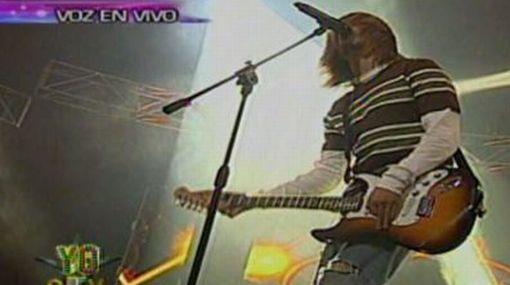 """VIDEO: la canción con la que el 'Kurt Cobain peruano' ganó en """"Yo soy"""""""