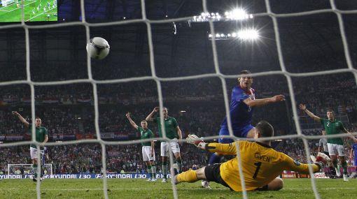 Croacia venció 3-1 a Irlanda y es líder del Grupo C de la Eurocopa 2012