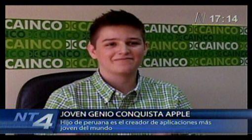 Con solo 15 años, hijo de peruana diseña aplicaciones para Apple