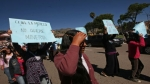 Cajamarca: gestantes y mujeres simulando embarazo marcharon contra Conga - Noticias de rodrigo rodrich